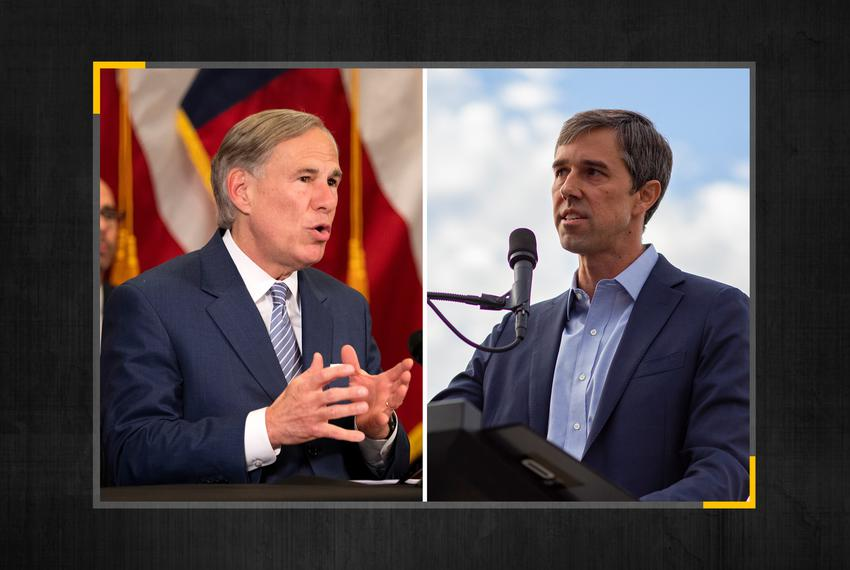Gov. Greg Abbott, left, and former U.S. Rep. Beto O'Rourke, D-El Paso.