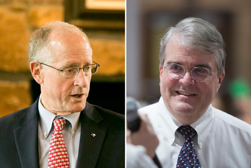 U.S. Reps. Mike Conaway, R-Midland (right), and John Culberson, R-Houston.