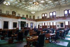 The Senate Chamber at the Texas Capitol on August 16, 2017, the morning after the end of the special session.