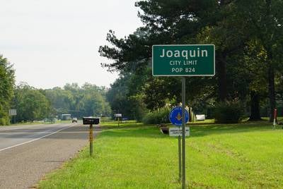 Joaquin sits about three miles from the Louisiana state line.