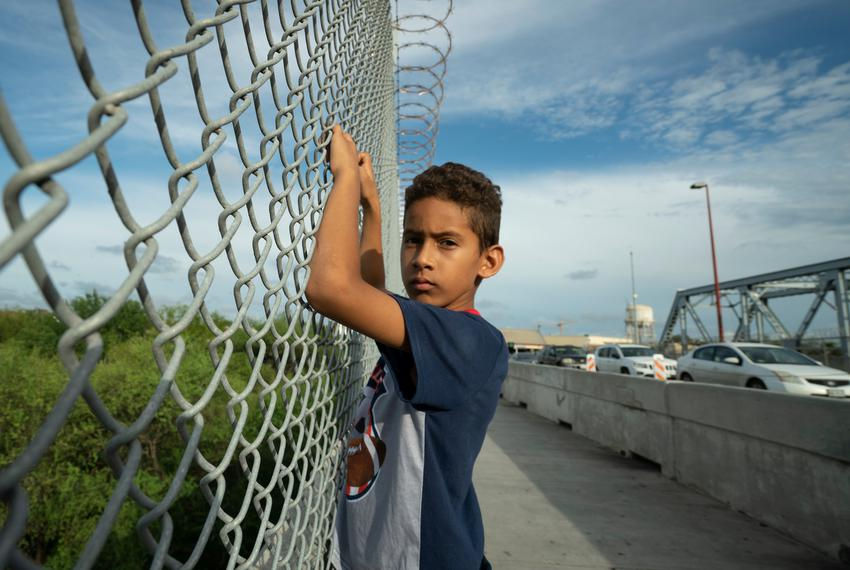 Javier Alejandro Vindel-Rodriguez on the Brownsville Express International Bridge, where U.S. Customs and Border Patrol ag...