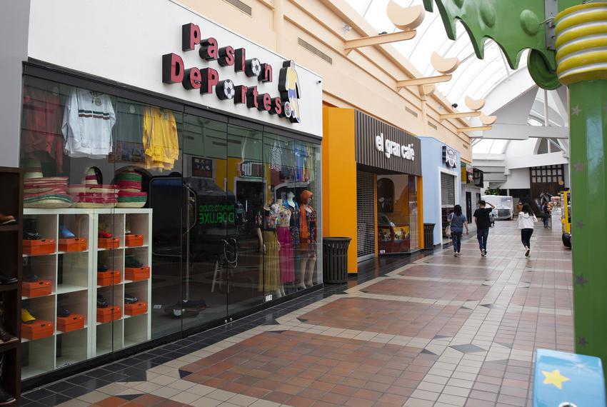 Pasion Deportes, a shop in La Gran Plaza in Fort Worth, was one of several shops unable to open despite the reopening of man…