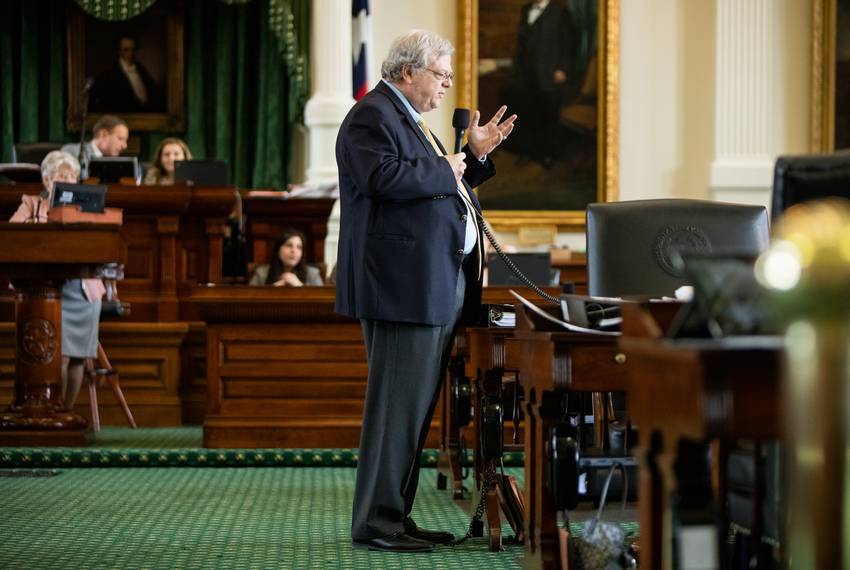 State Sen. Paul Bettencourt, R-Houston, speaks on his resolution to declare an emergency on the Texas-Mexico border on Apr...