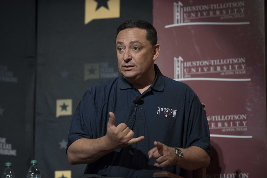 Art Acevedo, chief of the Houston Police Department, speaking on the Race and Policing in Texas panel at A Symposium on Race and Public Policy on Jan 14, 2017.