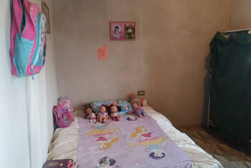 Heyli's bedroom in San Francisco de la Paz, Honduras. Heyli, a first-grader, is learning to read and write, and her mother said she was excited for the trip to the U.S.