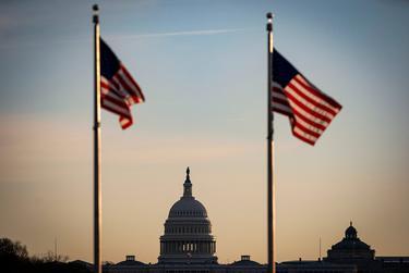 The U.S. Capitol during sunrise in Washington, D.C., on Dec. 15, 2020.
