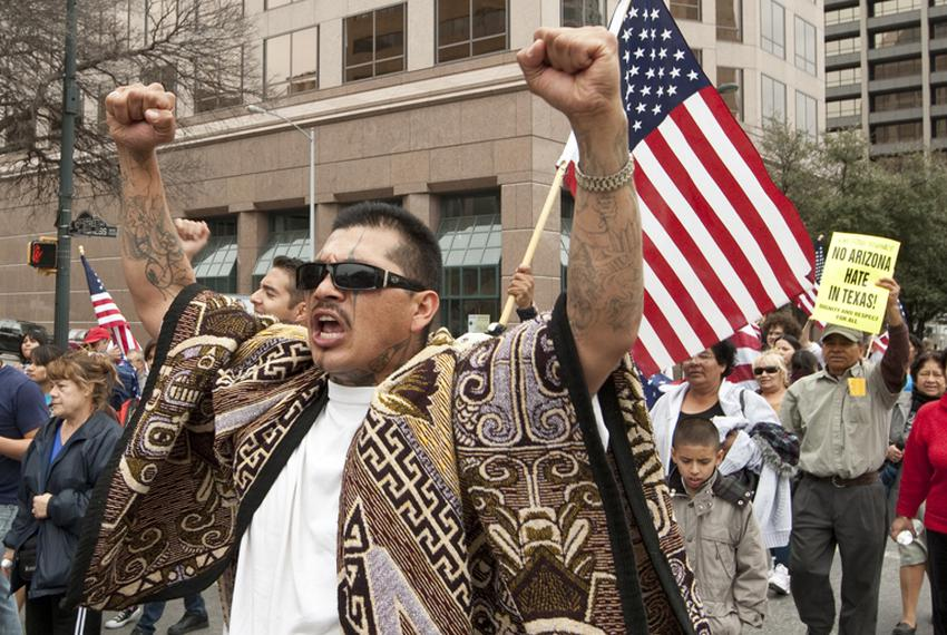 Immigration rally at the Texas Capitol Feb 22nd, 2011