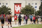 University of Houston students on campus on Tuesday, Sept. 5, 2017.