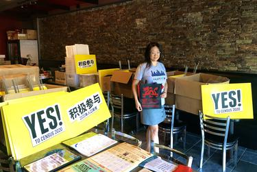 Debbie Chen, a co-owner of Shabu House, said that while her restaurant is closed for dine-in services during the pandemic, it has turned into a de facto storage unit for OCA-Greater Houston.