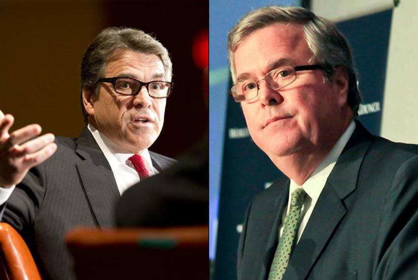 Former Texas Gov. Rick Perry and former Florida Gov. Jeb Bush