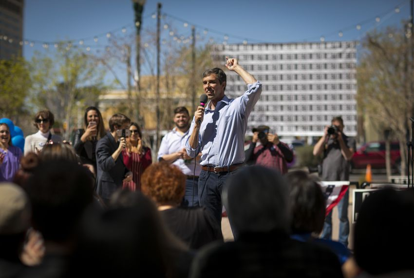 U.S. Rep. Beto O'Rourke speaks at an early voting rally in in El Paso on March 2, 2018.