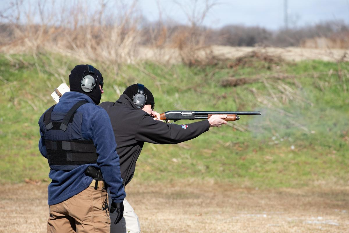 Members of church security teams from across Texas gathered in Krugerville, near Denton, to get certified in church security and trained for an active shooter situation by the National Organization of Church Security and Safety Management, on Jan. 11, 2020.