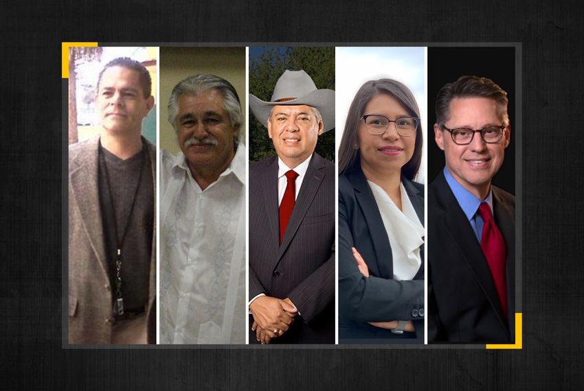 From left: Steve Huerta, Ray Lopez, Fred Rangel, Coda Rayo-Garza and Art Reyna are running in the special election.