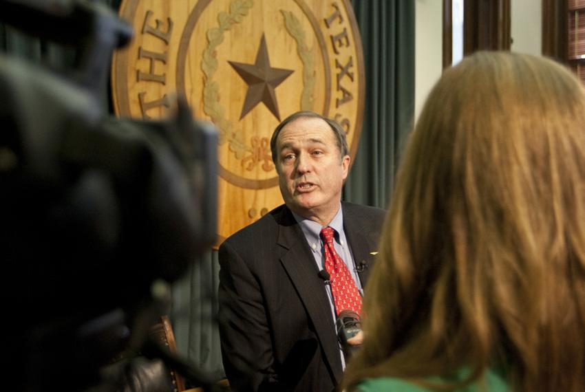 Rep. Rob Eissler R-The Woodlands, Public Education Committee Charman,  speaks to reporters on May 23rd, 2011