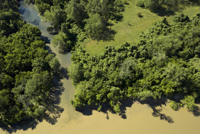 Downstream from Inland Environmental & Remediation, Inc., contaminated water empties from Skull creek into the Colorado Rive…