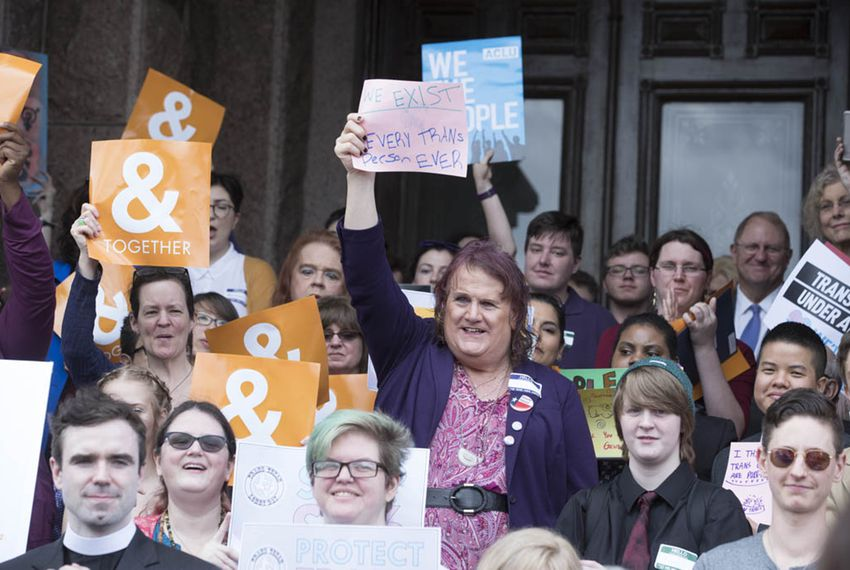 "Supporters turn out for Trans Texan Lobby Day 2017 at the state Capitol on March 6, 2017. It was a busy day with several events both opposing and supporting SB6, the so-called ""bathroom bill."""