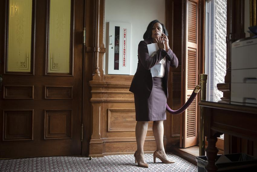 State Rep. Nicole Collier, D-Fort Worth, on the House floor on May 30, 2021.