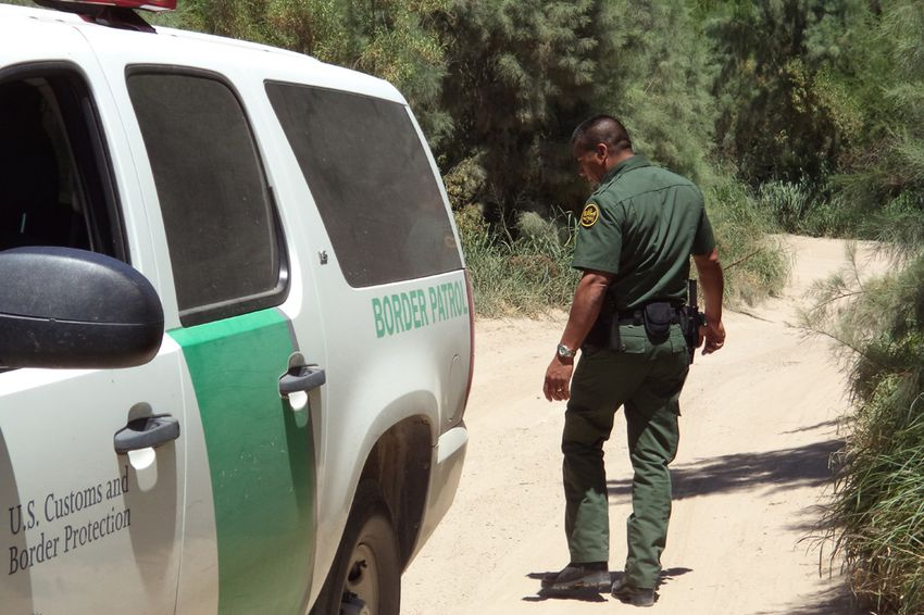 U.S. Border Patrol agents patrolling in the Rio Grande Valley.