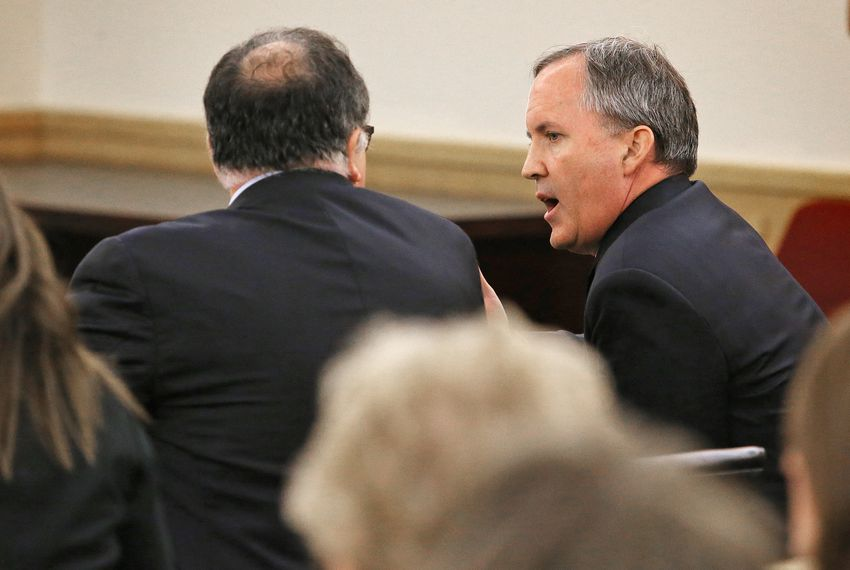 Texas Attorney General Ken Paxton pleaded not guilty to felony charges in court in Fort Worth on Aug. 27.