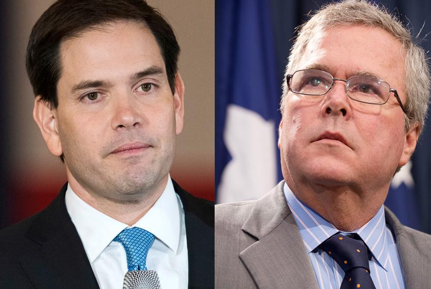 U.S. Sen. Marco Rubio and former Gov. Jeb Bush, both Florida Republicans