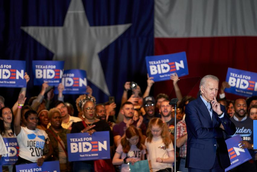 Democratic presidential candidate and former Vice President Joe Biden spoke during a campaign stop in Dallas on March 2, 202…