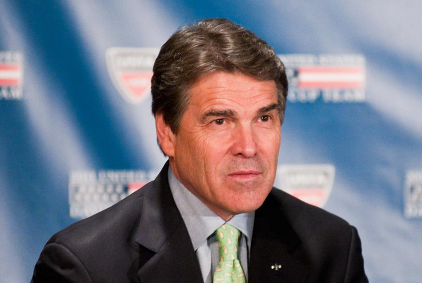 Gov. Rick Perry at the Frank Erwin Center on March 23rd, 2011.