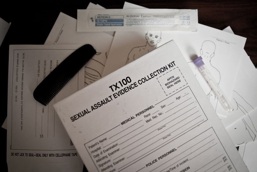 Pictured is a sexual assault evidence collection kit used by law enforcement throughout Texas.