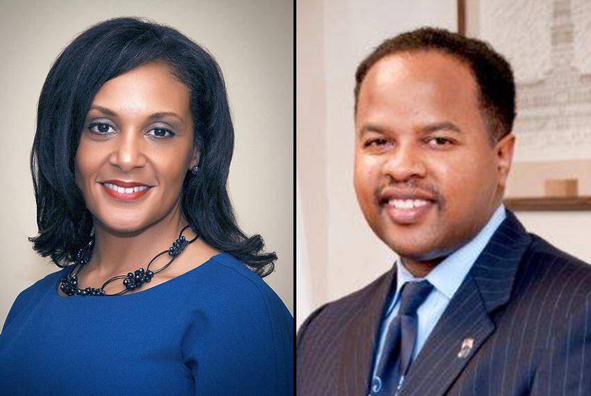 Angelique Bartholomew (l) is challenging state Rep. Ron Reynolds in the Democratic runoff for House District 27.