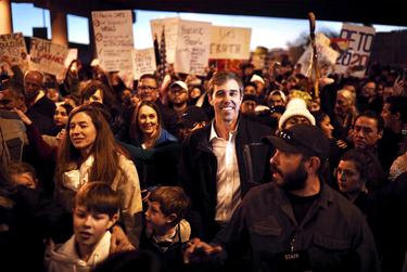 Former congressman and possible presidential candidate Beto O'Rourke marched in his own rally Monday.