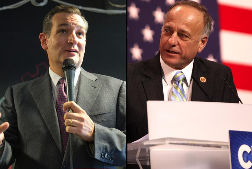 U.S. Sen. Ted Cruz, R-Texas, and U.S. Rep. Steve King, R-Iowa.