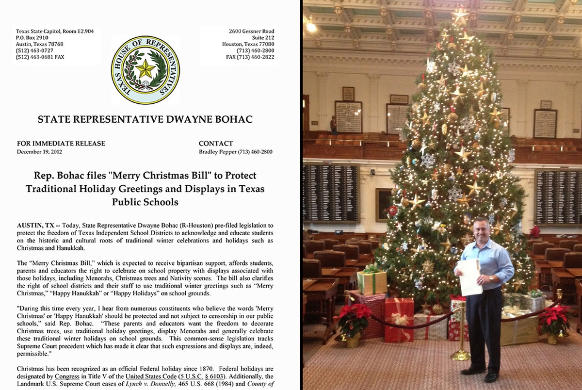 Campaign Promotes Merry Christmas Law | The Texas Tribune