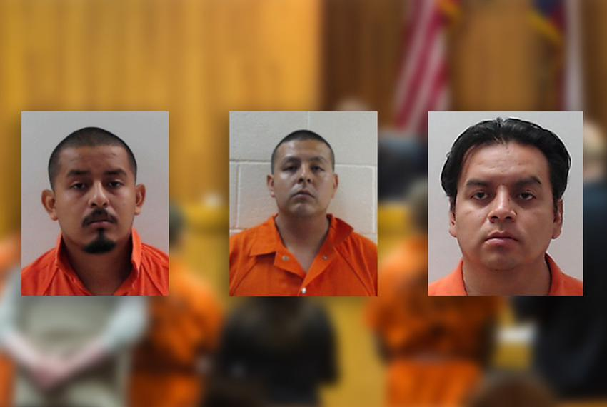 The Luna brothers, including Border Patrol agent Joel (center), were indicted on capital murder and organized crime charges …
