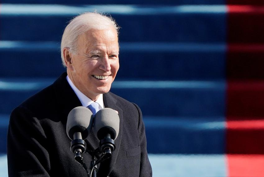 President Joe Biden spoke during the 59th Presidential Inauguration in Washington, D.C., on Jan. 20, 2021.