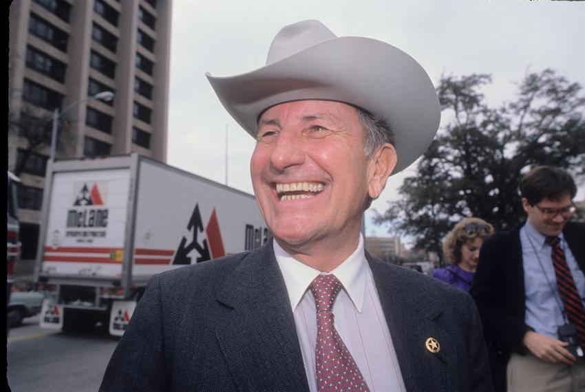 Clayton Williams during the 1990 gubernatorial campaign.
