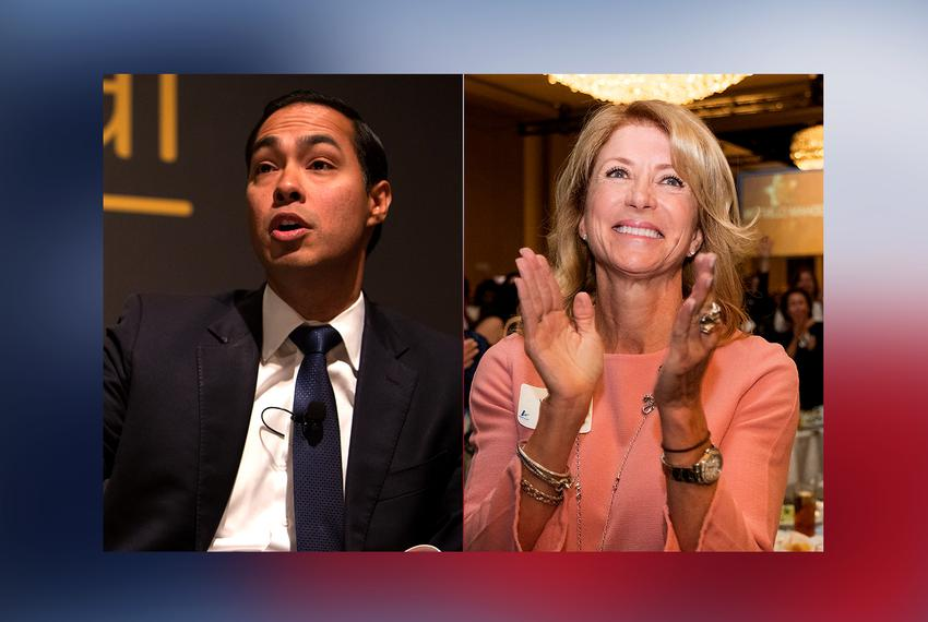 Former U.S. Housing Secretary Julián Castro and former state Sen. Wendy Davis.