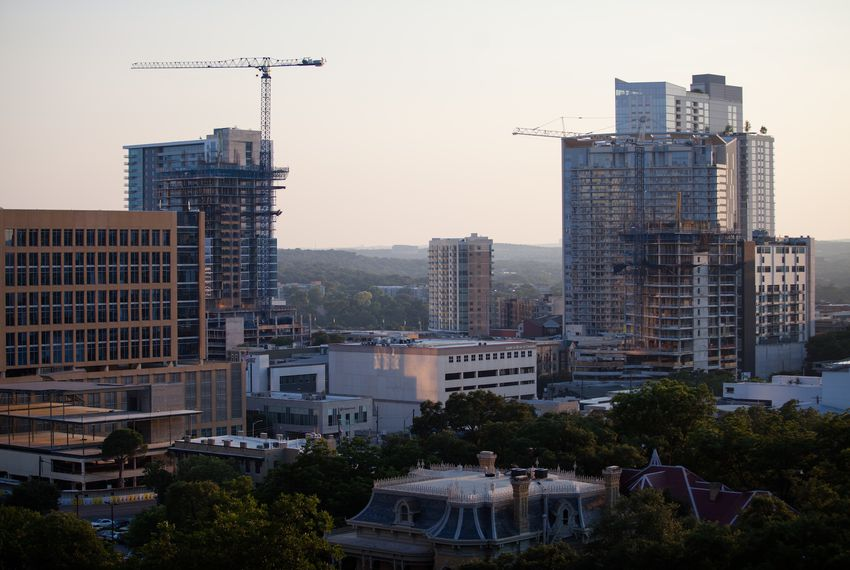 Construction in downtown Austin on June 20, 2017.
