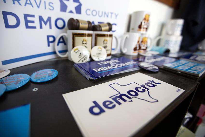 The Travis County Democratic Party office in Austin.