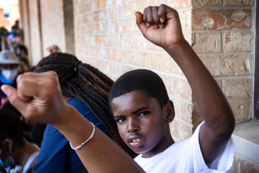 Johnathan Whitworth, 8, participated in the Black Austin Rally & March For Black Lives  with more than 5,000 people in June.