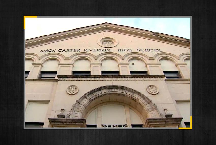 Amon Carter Riverside High School in the Fort Worth Independent School Distict.