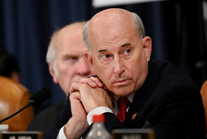 Dec 12, 2019; Washington, DC, USA; Rep. Louie Gohmert, R-Texas, left listens during the House Judiciary Committee markup o...