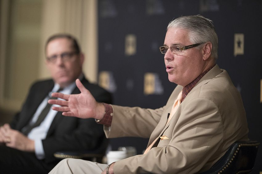 State Rep. Dan Huberty, R-Humble, newly appointed chair of the House Education Committee, talks public education at TTEvents on Feb. 28, 2017.