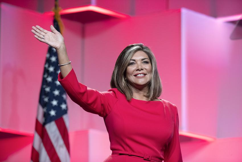 Texas Supreme Court Justice Eva Guzman at the Texas Republican Convention at the Henry B. Gonzales Convention Center in San …