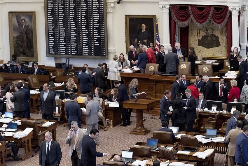The Texas House of Representatives takes up the budget on April 6, 2017.