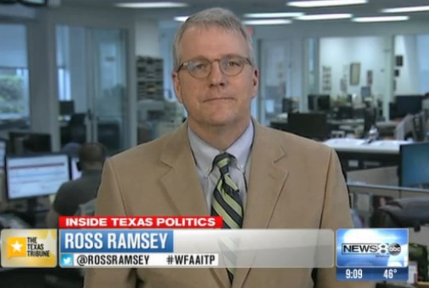 "Texas Tribune Executive Editor Ross Ramsey on WFAA-TV's ""Inside Texas Politics"" on March 23, 2014."