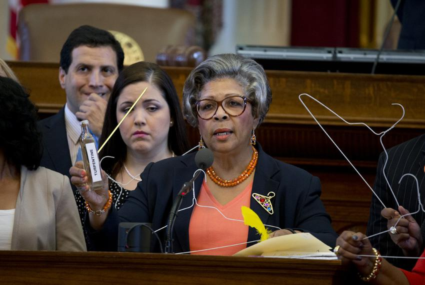 State Rep. Senfronia Thompson, D-Houston, during House debate on HB 2 on July 9, 2013.