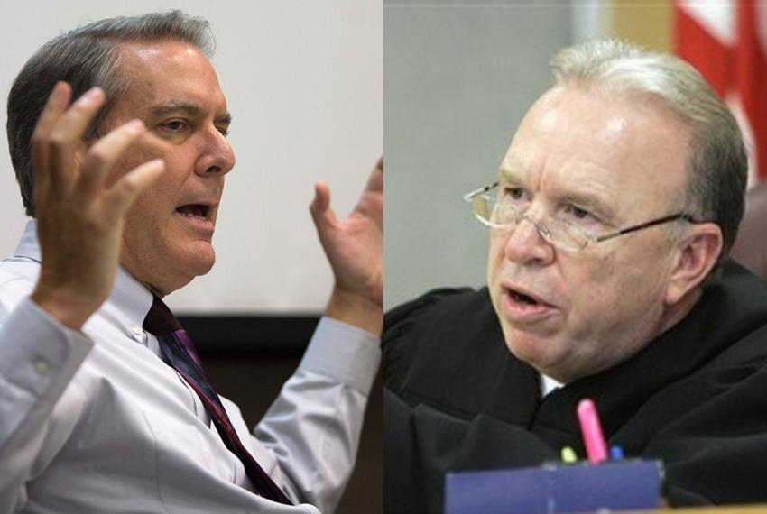 John Bradley and District Judge Charlie Baird.
