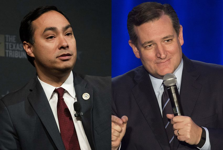 U.S. Rep. Joaquin Castro (left) and U.S. Sen. Ted Cruz.