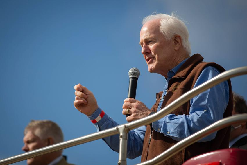 U.S. Sen. John Cornyn, R-Texas, visited College Station on Oct. 28, 2020, as part of his statewide bus tour. Cornyn was also…