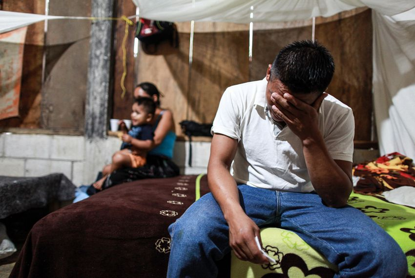David Xol and his wife Florinda at their home in Alta Verapaz. Xol made his way across Mexico with his 7-year-old son, Byron. Xol was deported back to Guatemala; Byron remains in a detention center in Baytown.
