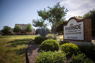 Riverside Nursing and Rehabilitation Center in Austin, where state data shows that dozens of residents were infected with COVID-19 and 14 have died.